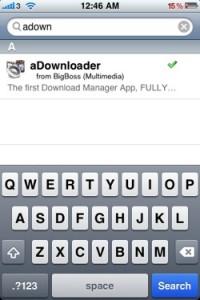 aDownloader Downloading