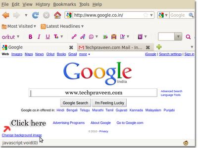 How do I set a custom background for Google - Tips and Tricks